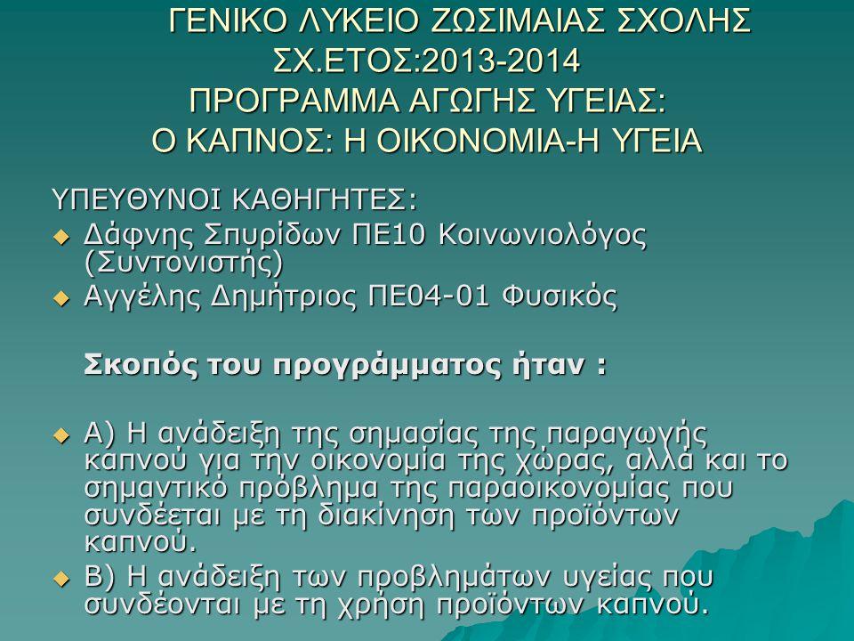 ΓΕΝΙΚΟ ΛΥΚΕΙΟ ΖΩΣΙΜΑΙΑΣ ΣΧΟΛΗΣ. ΣΧ