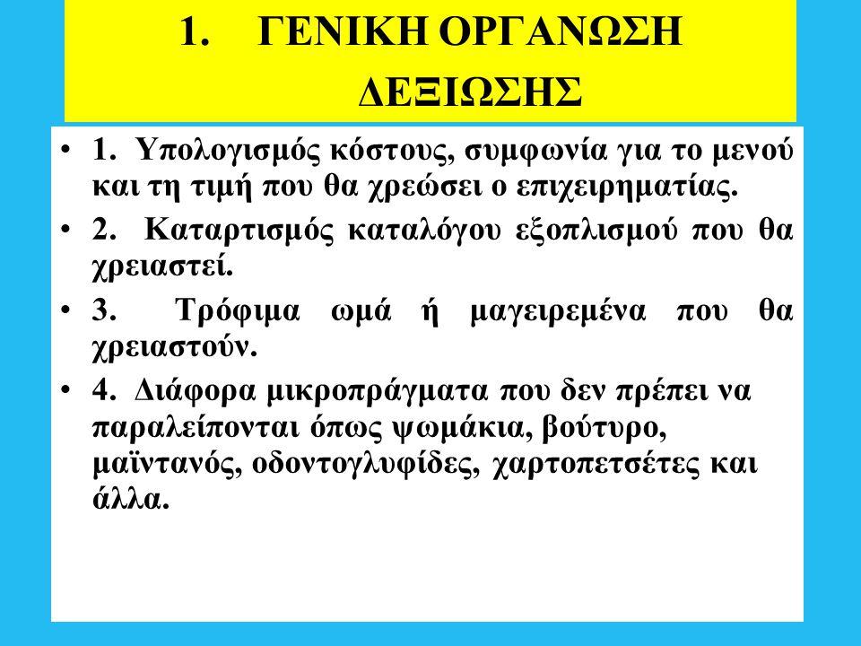 ΓΕΝΙΚΗ ΟΡΓΑΝΩΣΗ ΔΕΞΙΩΣΗΣ