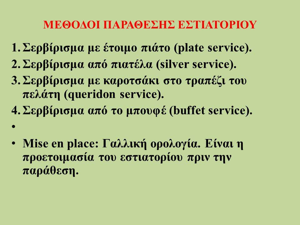 ΜΕΘΟΔΟΙ ΠΑΡΑΘΕΣΗΣ ΕΣΤΙΑΤΟΡΙΟΥ