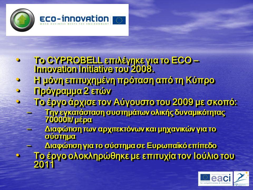 Το CYPROBELL επιλέγηκε για το ECO – Innovation Initiative του 2008.