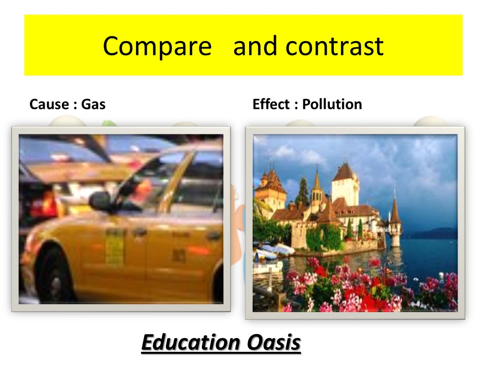 Compare and contrast Cause : Gas Effect : Pollution Education Oasis