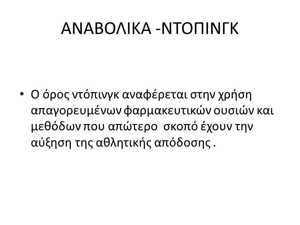 ΑΝΑΒΟΛΙΚΑ -ΝΤΟΠΙΝΓΚ