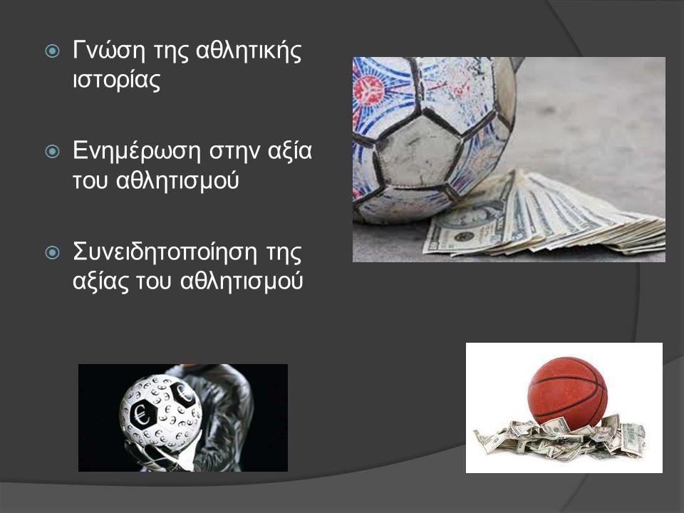 Γνώση της αθλητικής ιστορίας