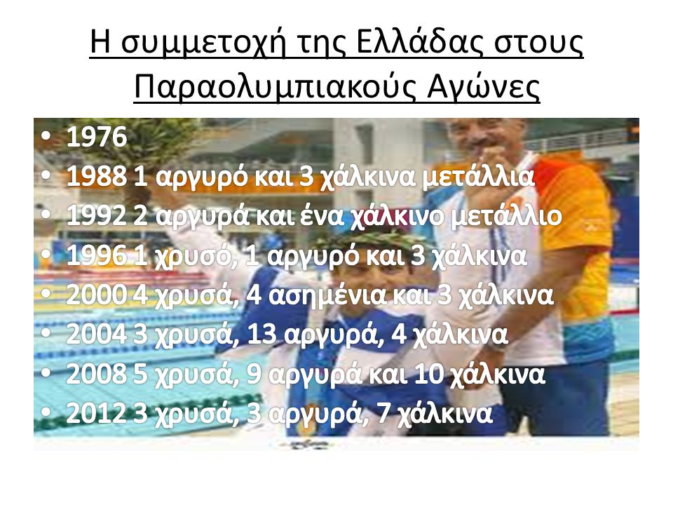 Η συμμετοχή της Ελλάδας στους Παραολυμπιακούς Αγώνες