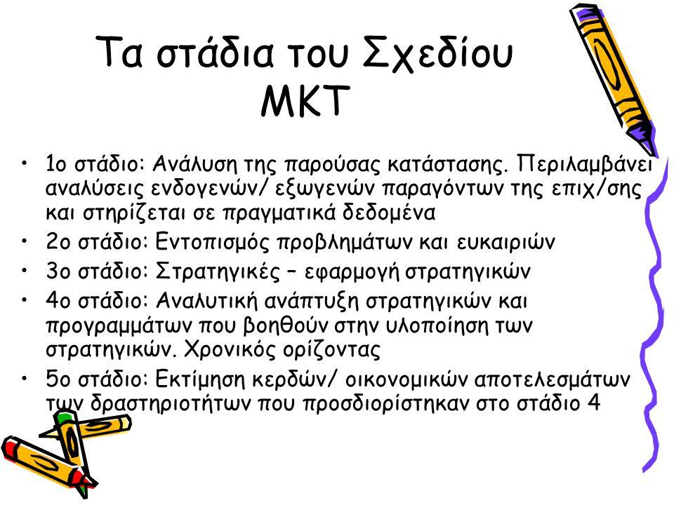 Τα στάδια του Σχεδίου ΜΚΤ