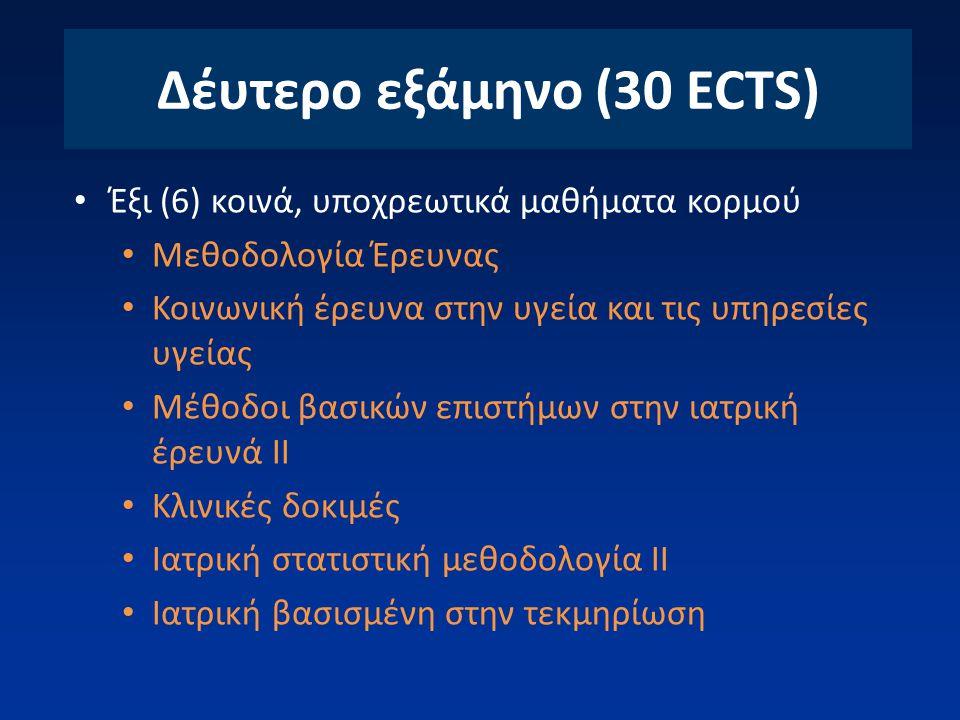 Δέυτερο εξάμηνο (30 ECTS)