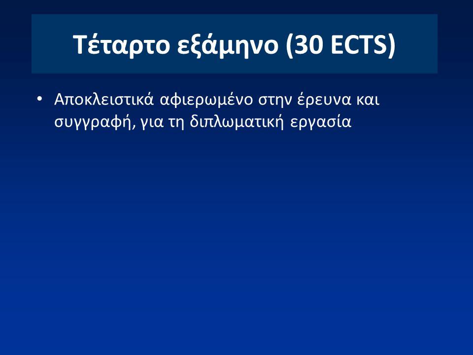 Τέταρτο εξάμηνο (30 ECTS)
