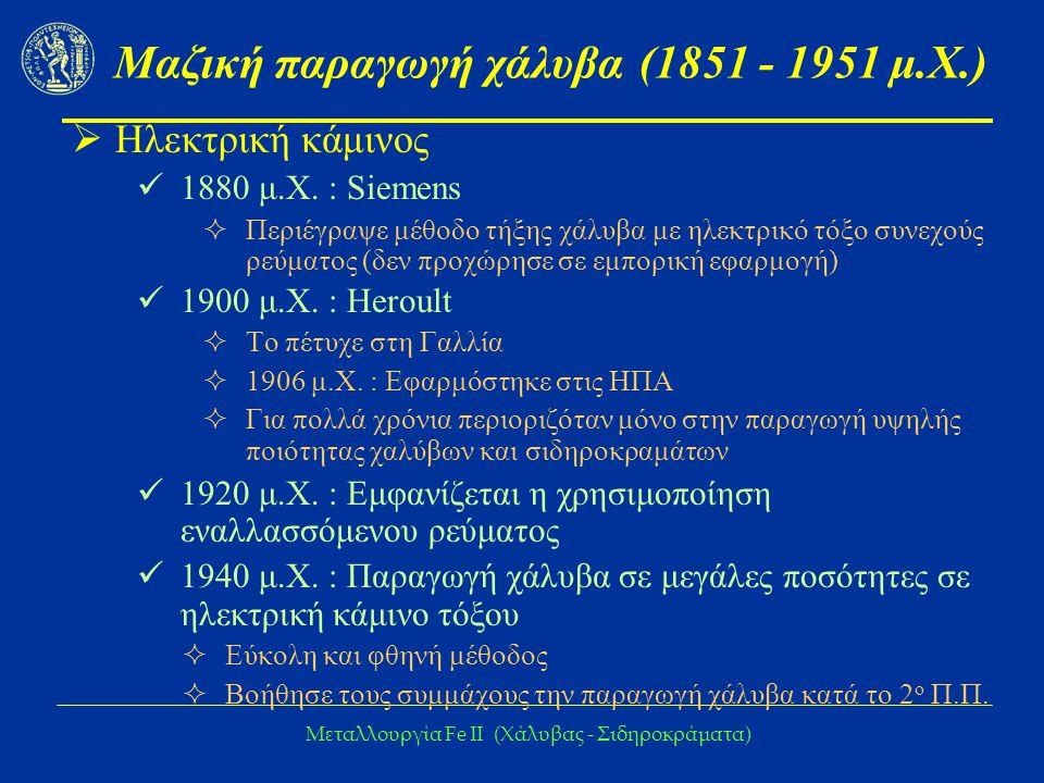 Μαζική παραγωγή χάλυβα (1851 - 1951 μ.Χ.)