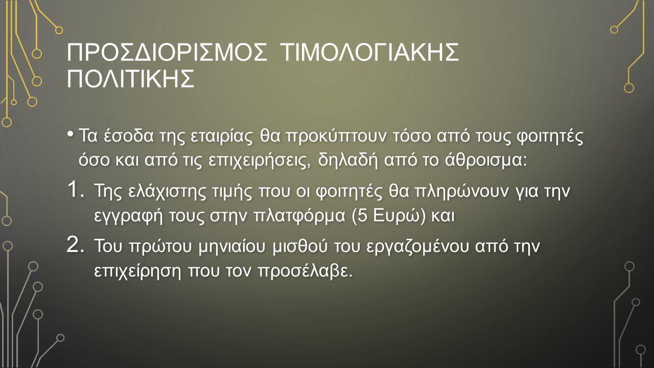 ΠροσδιορισμoΣ ΤιμολογιακhΣ ΠολιτικhΣ