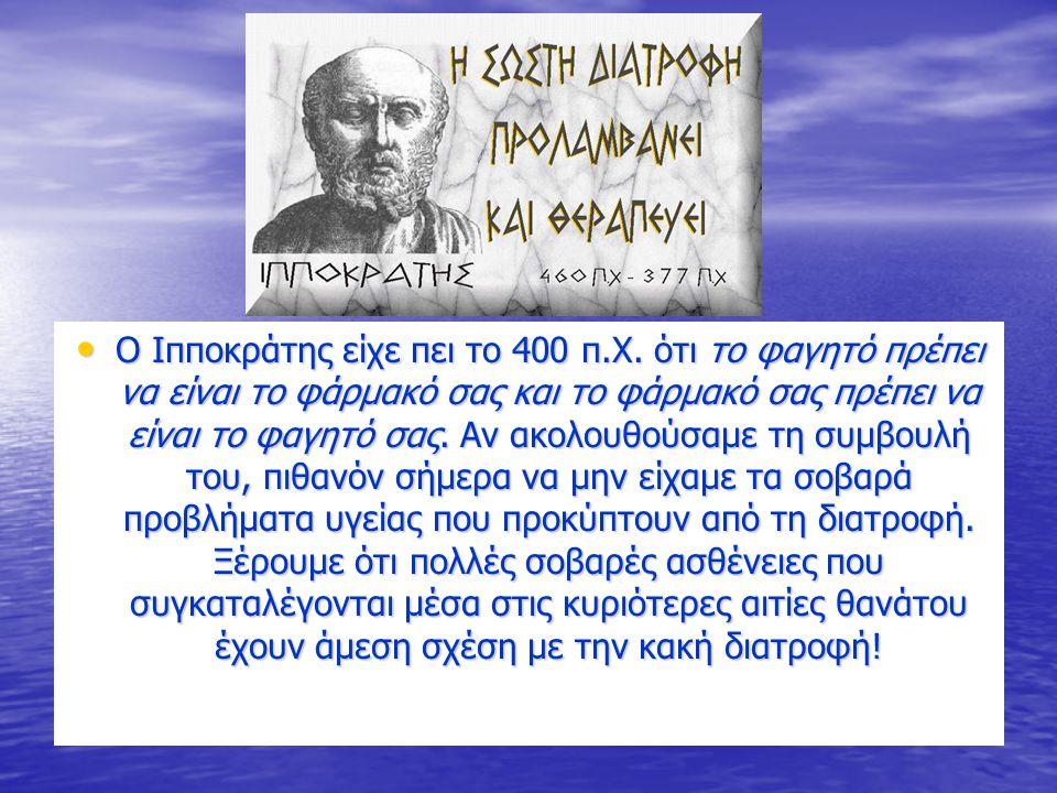 O Ιπποκράτης είχε πει το 400 π. Χ