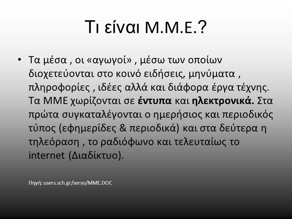 Τι είναι Μ.Μ.Ε.