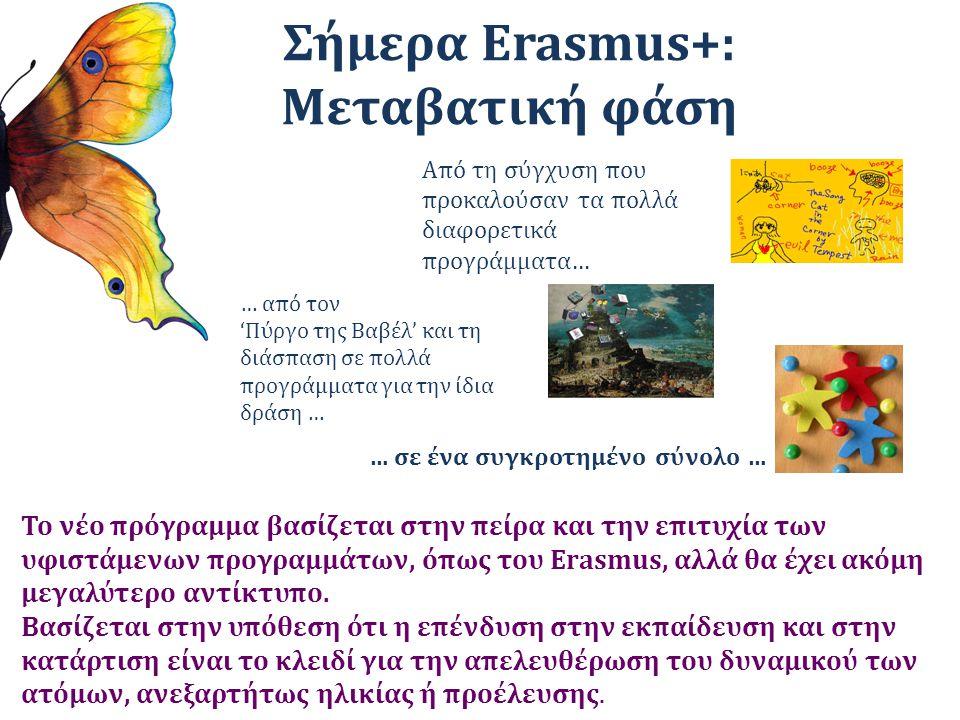 Σήμερα Erasmus+: Μεταβατική φάση