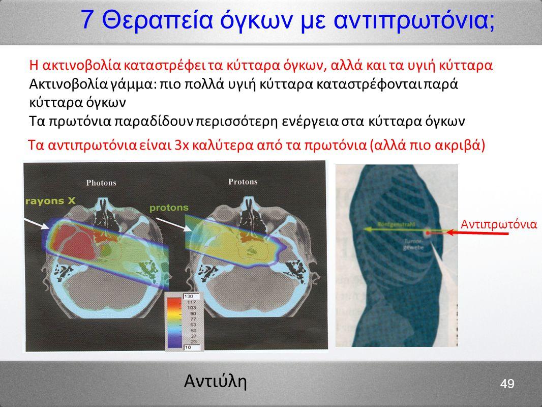 7 Θεραπεία όγκων με αντιπρωτόνια;