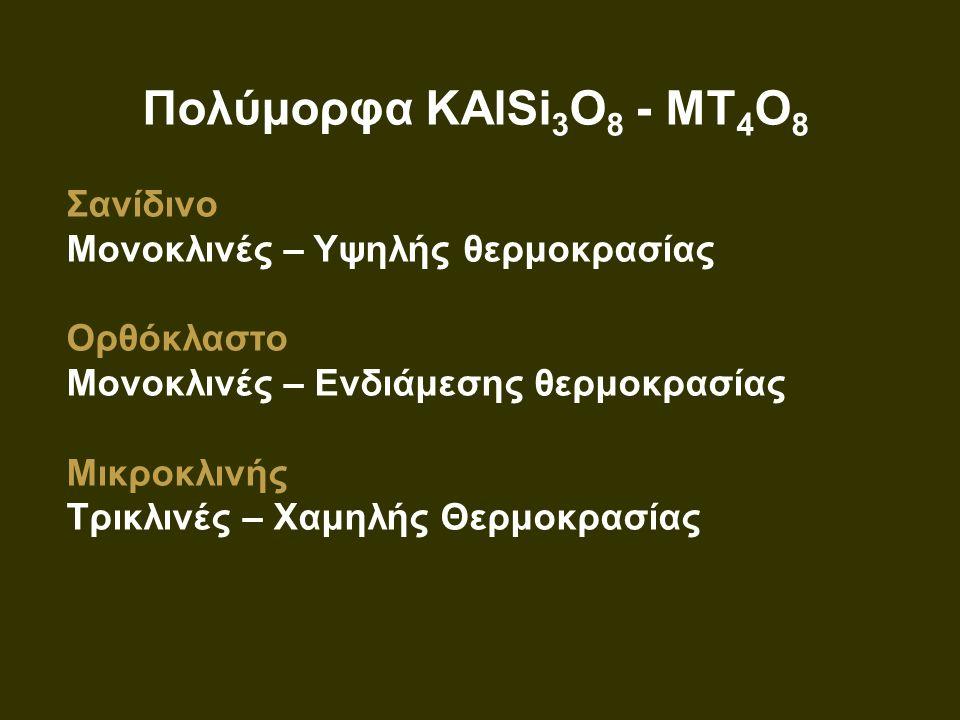 Πολύμορφα KAlSi3O8 - MT4O8 Σανίδινο Μονοκλινές – Υψηλής θερμοκρασίας
