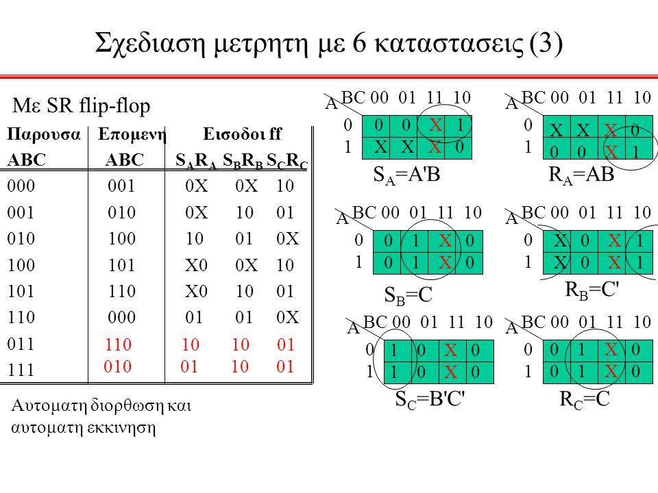Σχεδιαση μετρητη με 6 καταστασεις (3)