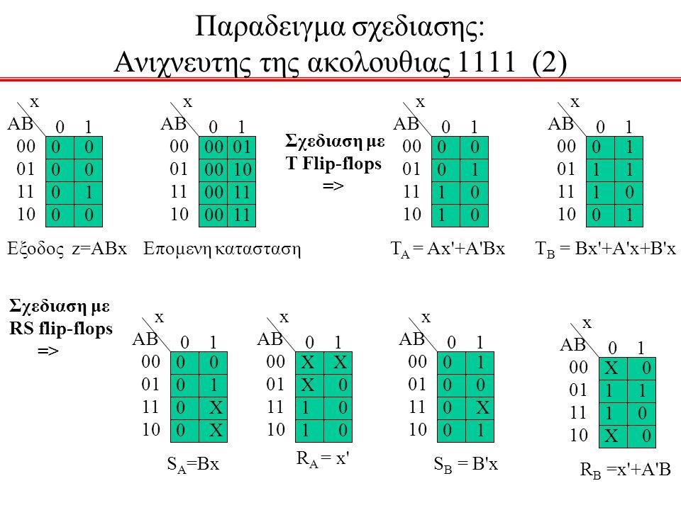 Παραδειγμα σχεδιασης: Ανιχνευτης της ακολουθιας 1111 (2)