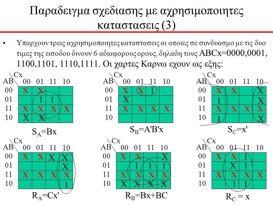 Παραδειγμα σχεδιασης με αχρησιμοποιητες καταστασεις (3)