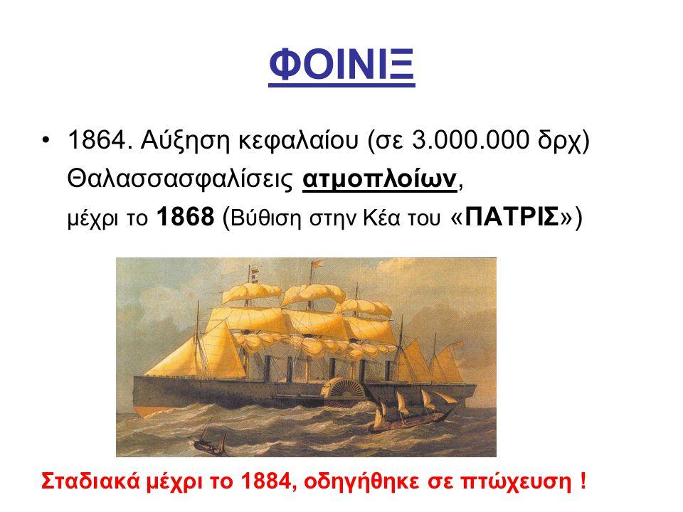 ΦΟΙΝΙΞ 1864. Αύξηση κεφαλαίου (σε 3.000.000 δρχ)