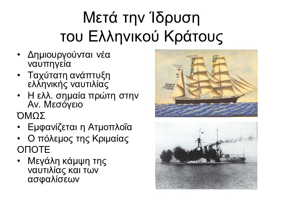 Μετά την Ίδρυση του Ελληνικού Κράτους