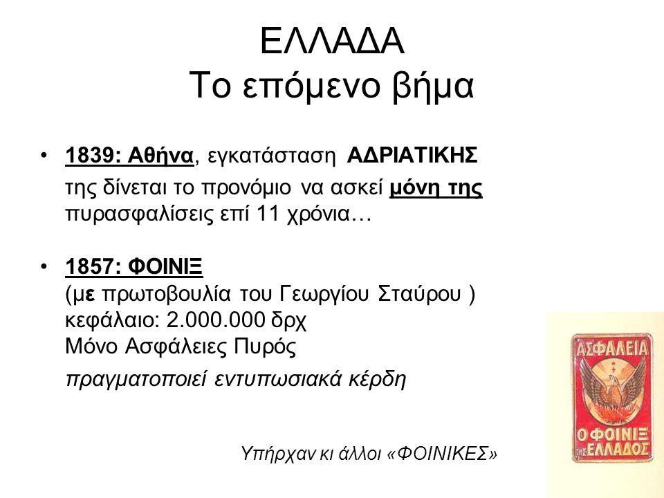 ΕΛΛΑΔΑ Το επόμενο βήμα 1839: Αθήνα, εγκατάσταση ΑΔΡΙΑΤΙΚΗΣ