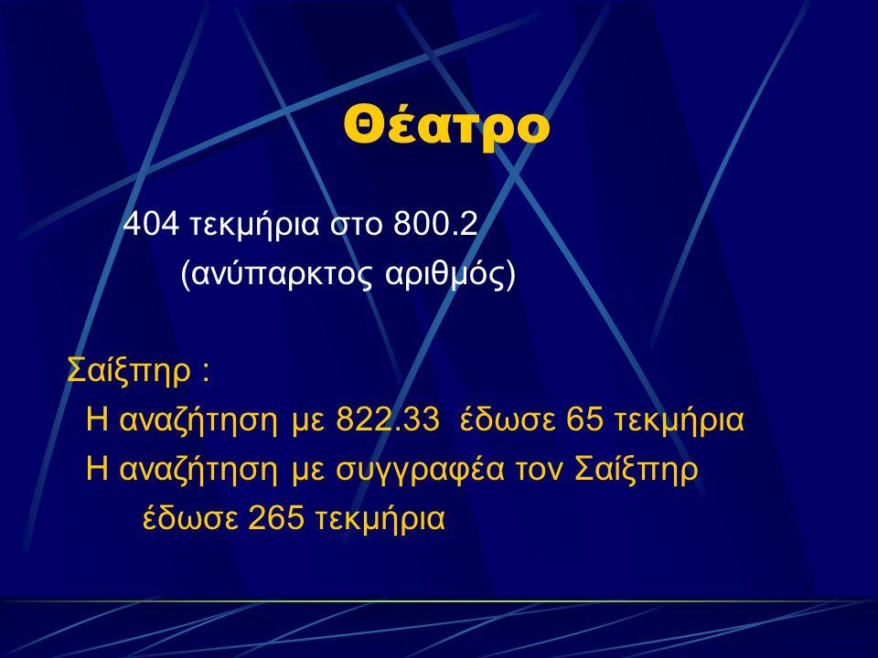 Θέατρο 404 τεκμήρια στο 800.2 (ανύπαρκτος αριθμός) Σαίξπηρ :