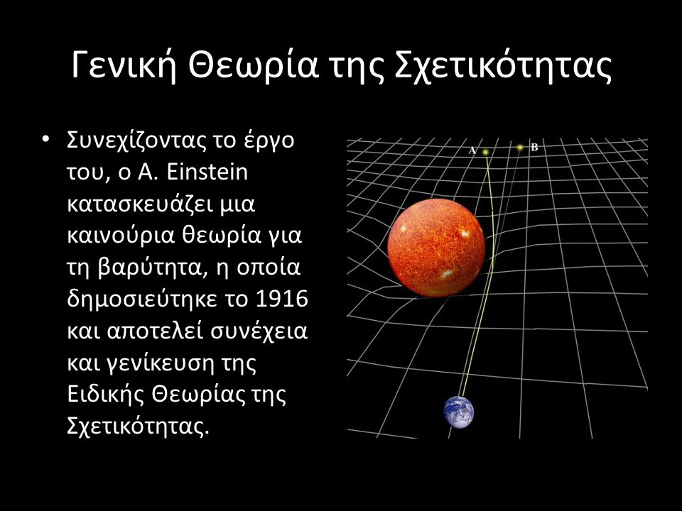 Γενική Θεωρία της Σχετικότητας