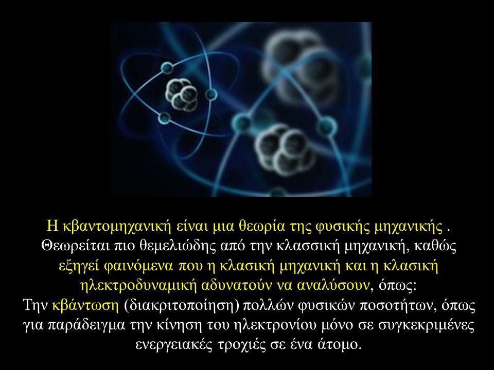 Η κβαντομηχανική είναι μια θεωρία της φυσικής μηχανικής