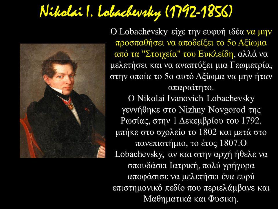Nikolai I. Lobachevsky (1792-1856)