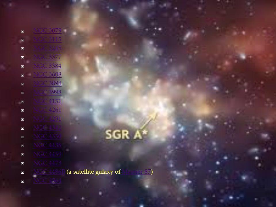 NGC 3079 NGC 3115. NGC 3245. NGC 3377. NGC 3384. NGC 3608. NGC 3894. NGC 3998. NGC 4151. NGC 4261.