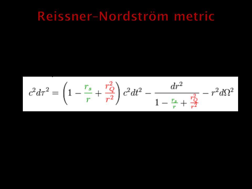 Reissner–Nordström metric
