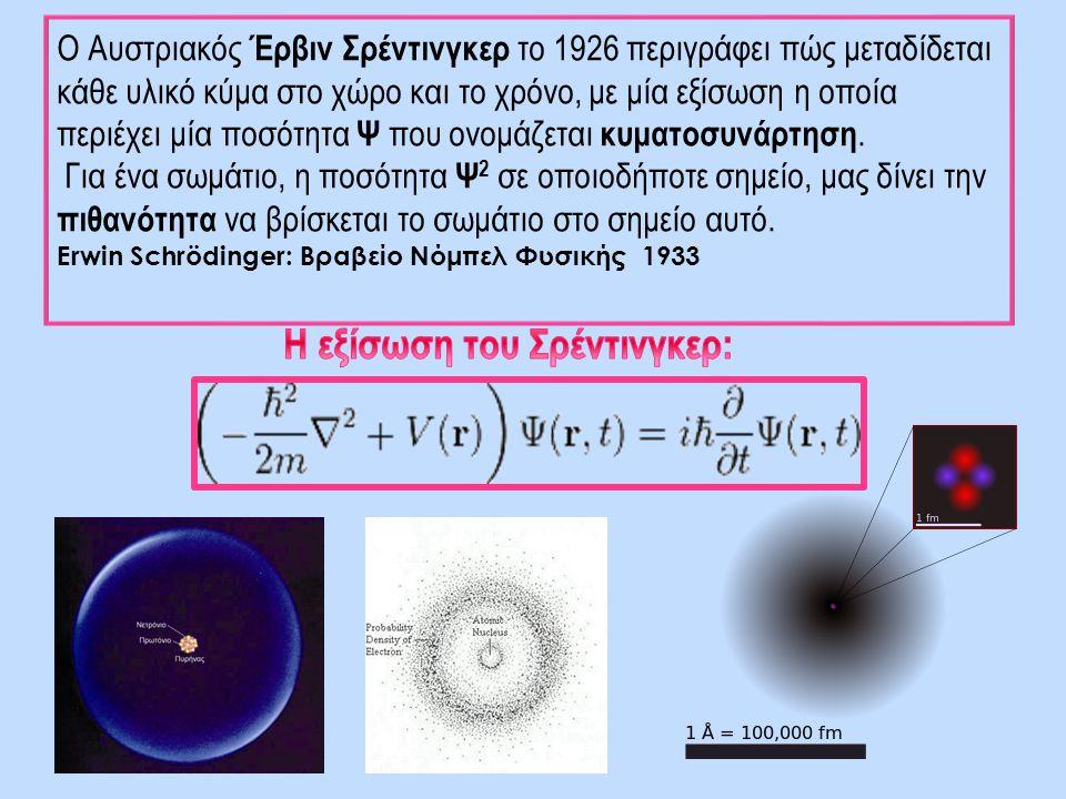 Η εξίσωση του Σρέντινγκερ: