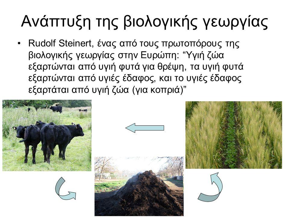 Ανάπτυξη της βιολογικής γεωργίας