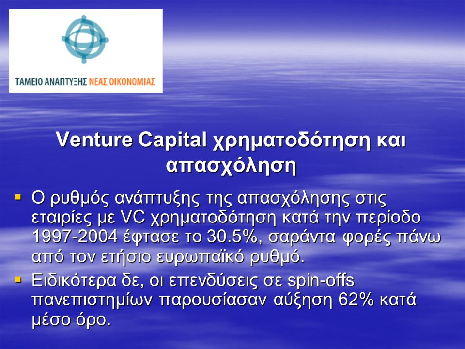 Venture Capital και έρευνα
