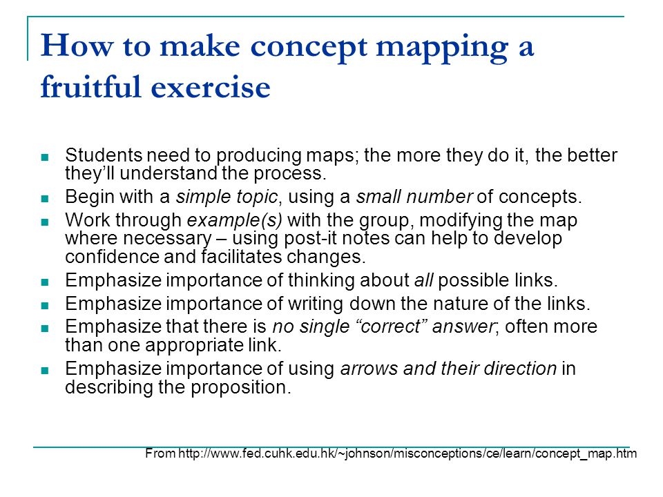 How to make concept mapping a fruitful exercise