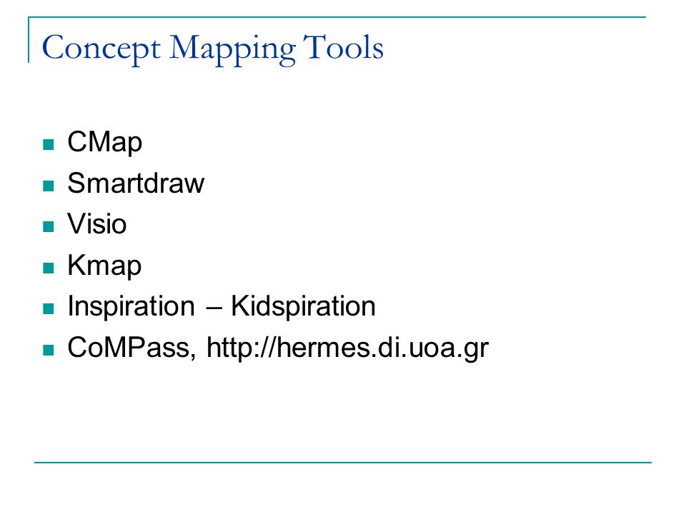 Concept Mapping Tools CMap Smartdraw Visio Kmap