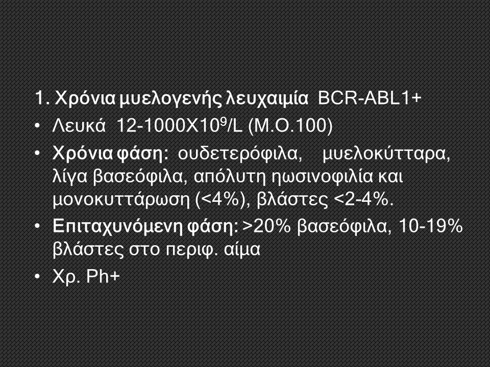 1. Χρόνια μυελογενής λευχαιμία BCR-ABL1+