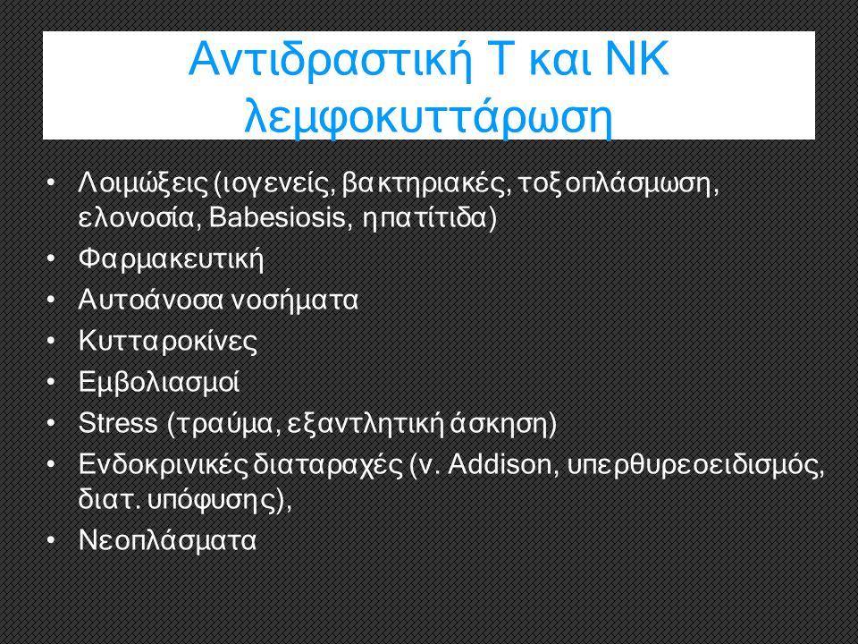 Αντιδραστική Τ και ΝΚ λεμφοκυττάρωση
