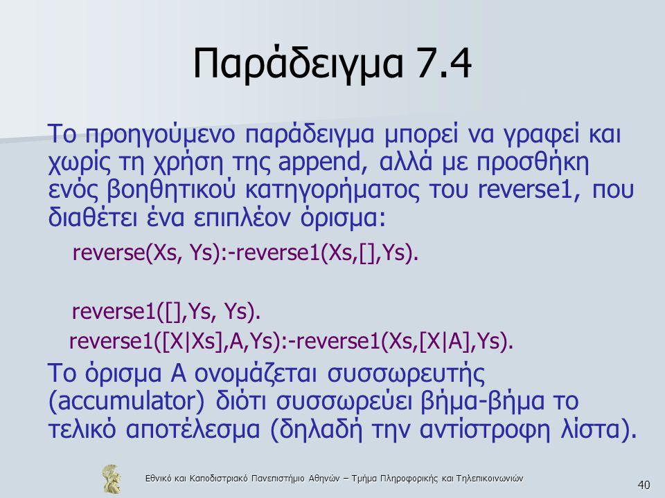 Παράδειγμα 7.4
