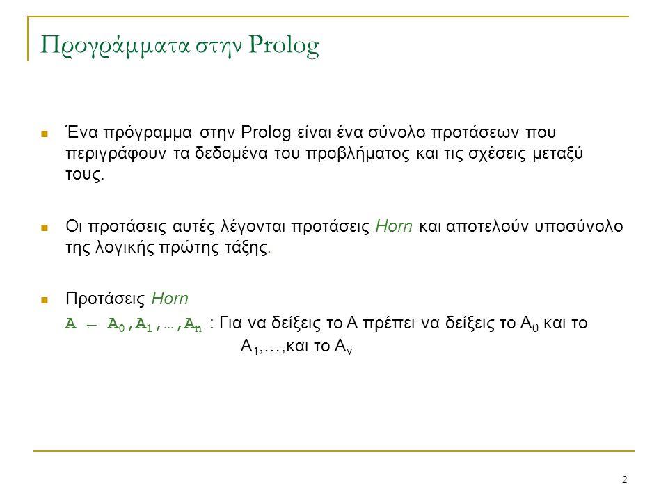 Προγράμματα στην Prolog
