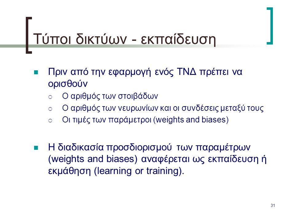 Τύποι δικτύων - εκπαίδευση