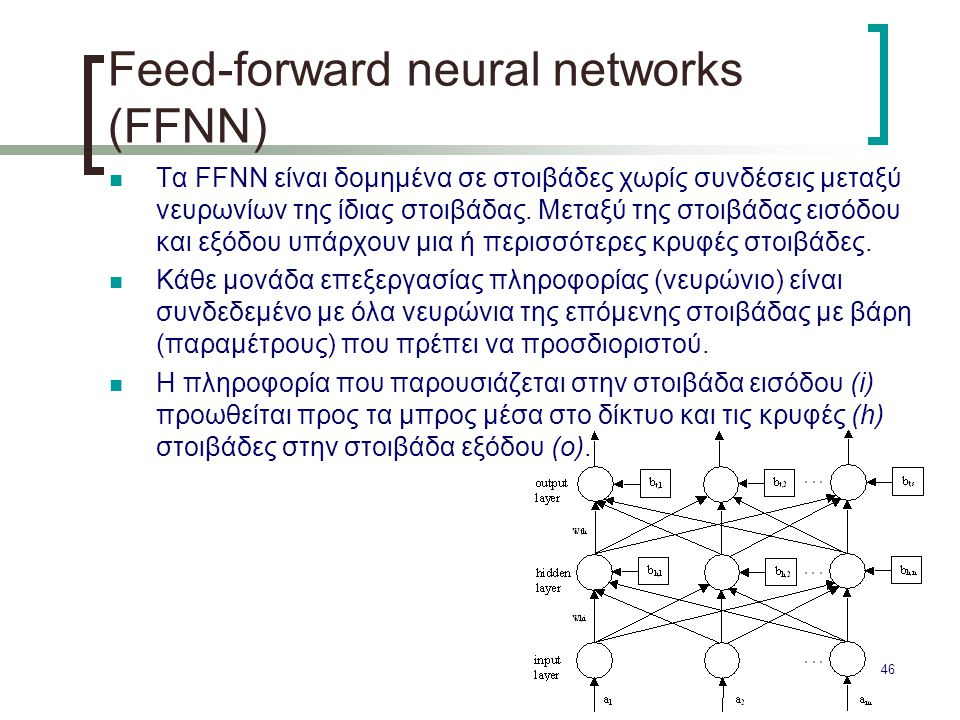 Feed-forward neural networks (FFNN)