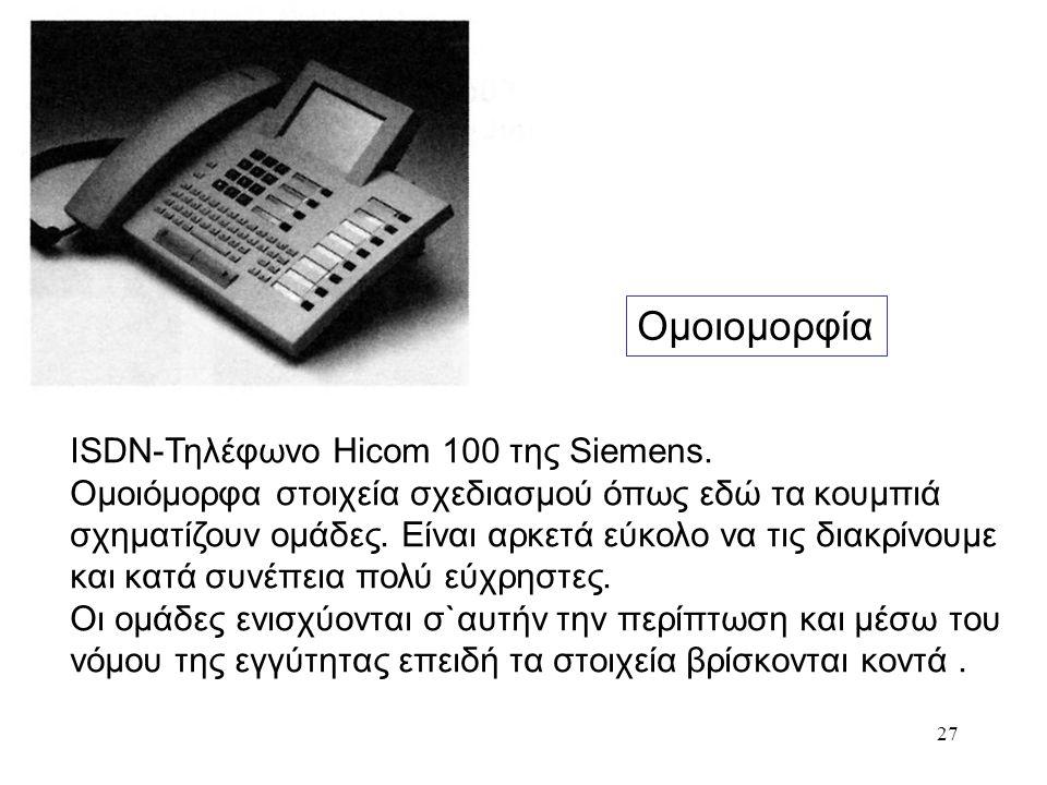 Ομοιομορφία ISDN-Τηλέφωνο Ηicom 100 της Siemens.