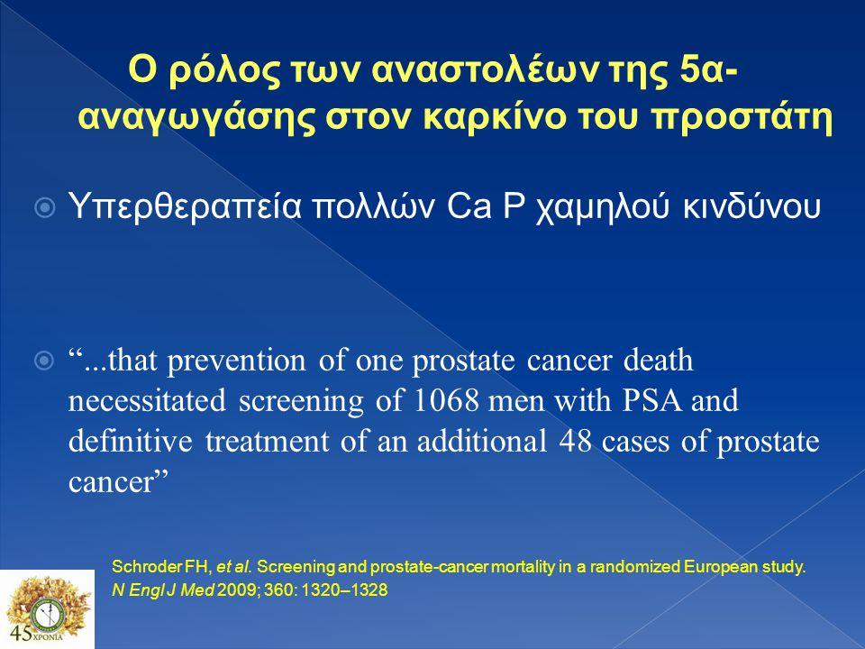 Ο ρόλος των αναστολέων της 5α-αναγωγάσης στον καρκίνο του προστάτη