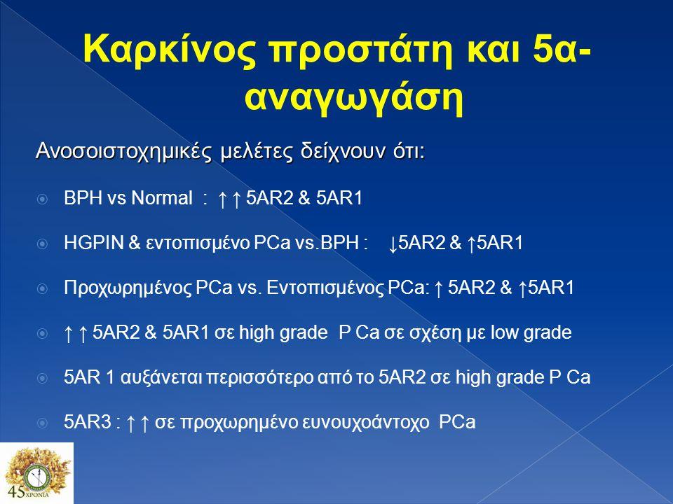 Καρκίνος προστάτη και 5α-αναγωγάση