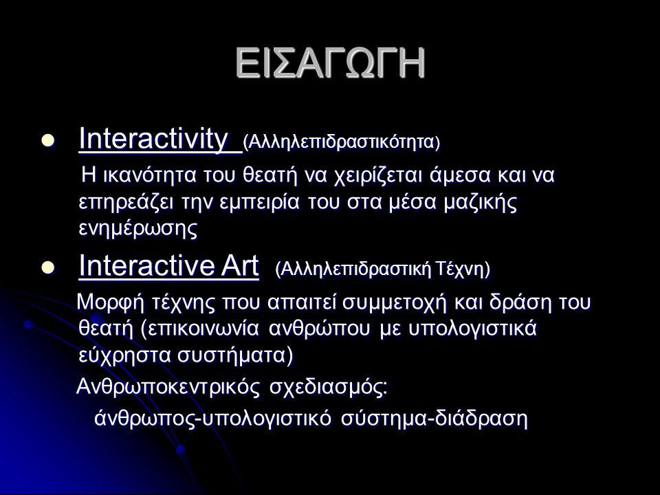 ΕΙΣΑΓΩΓΗ Interactivity (Αλληλεπιδραστικότητα)