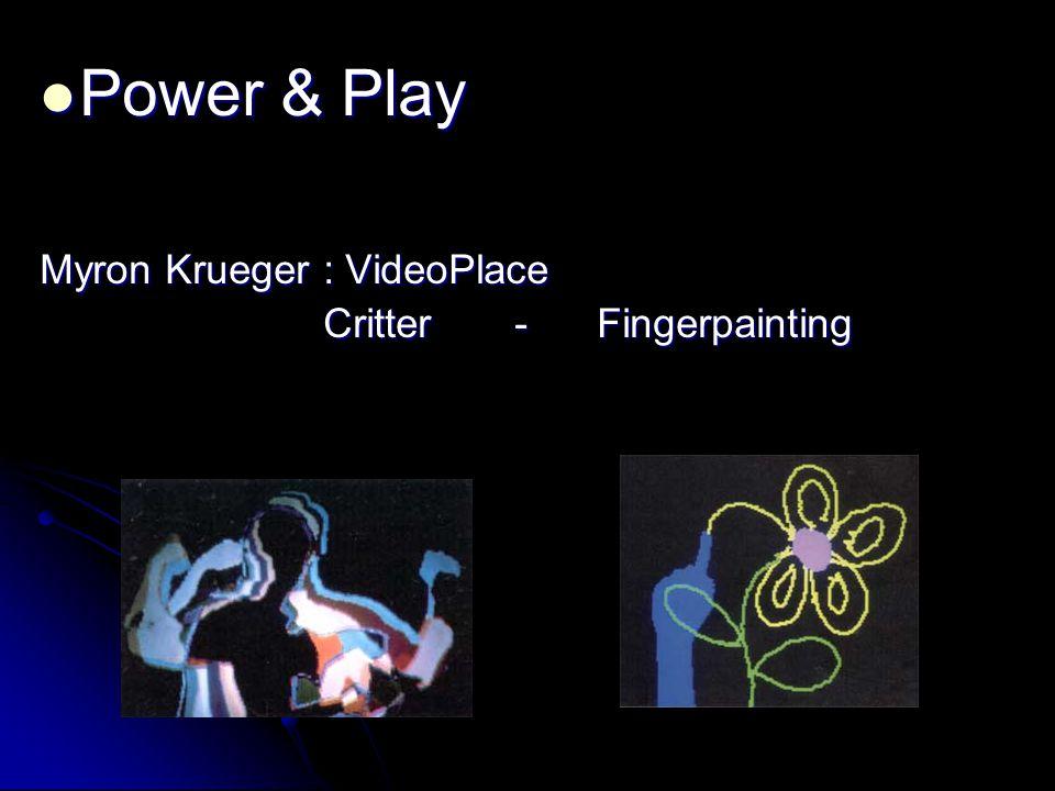 Power & Play Myron Krueger : VideoPlace Critter - Fingerpainting