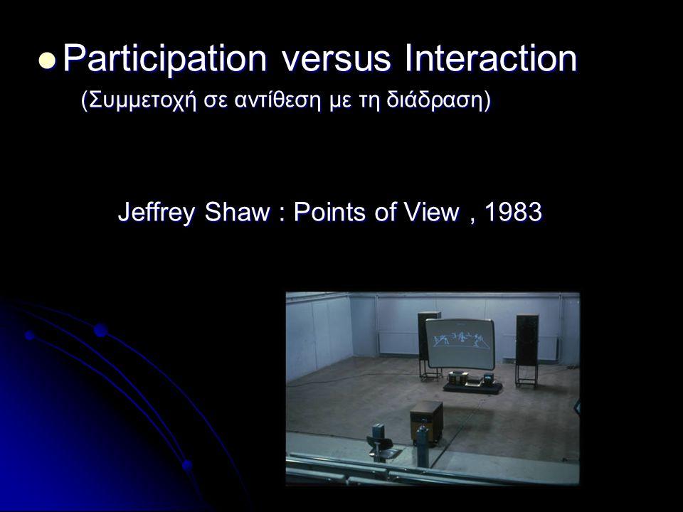 Participation versus Interaction