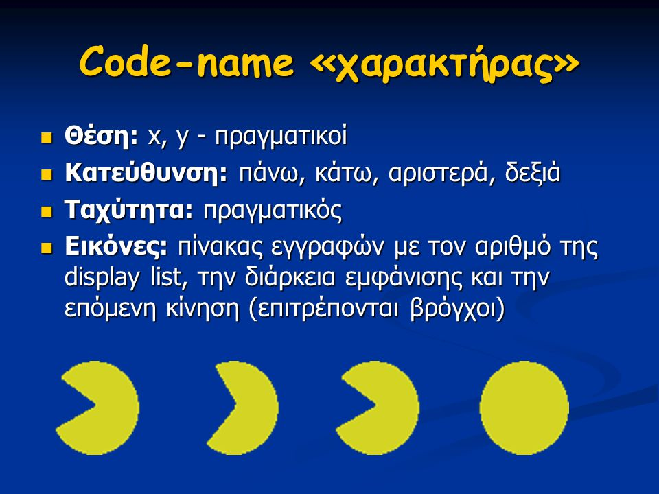 Code-name «χαρακτήρας»