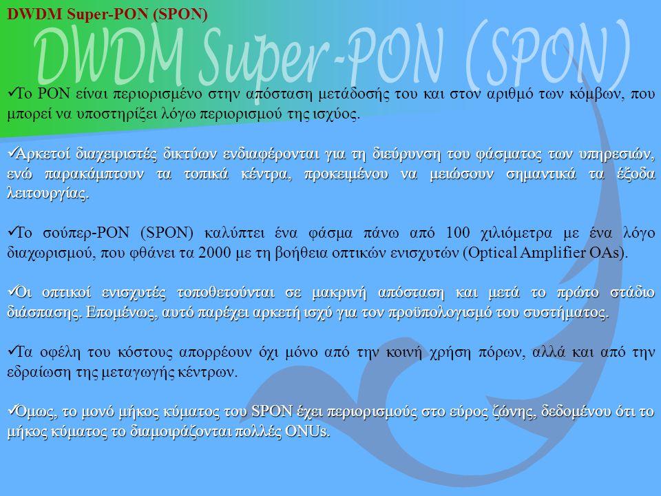 DWDM Super-PON (SPON) DWDM Super-PON (SPON)