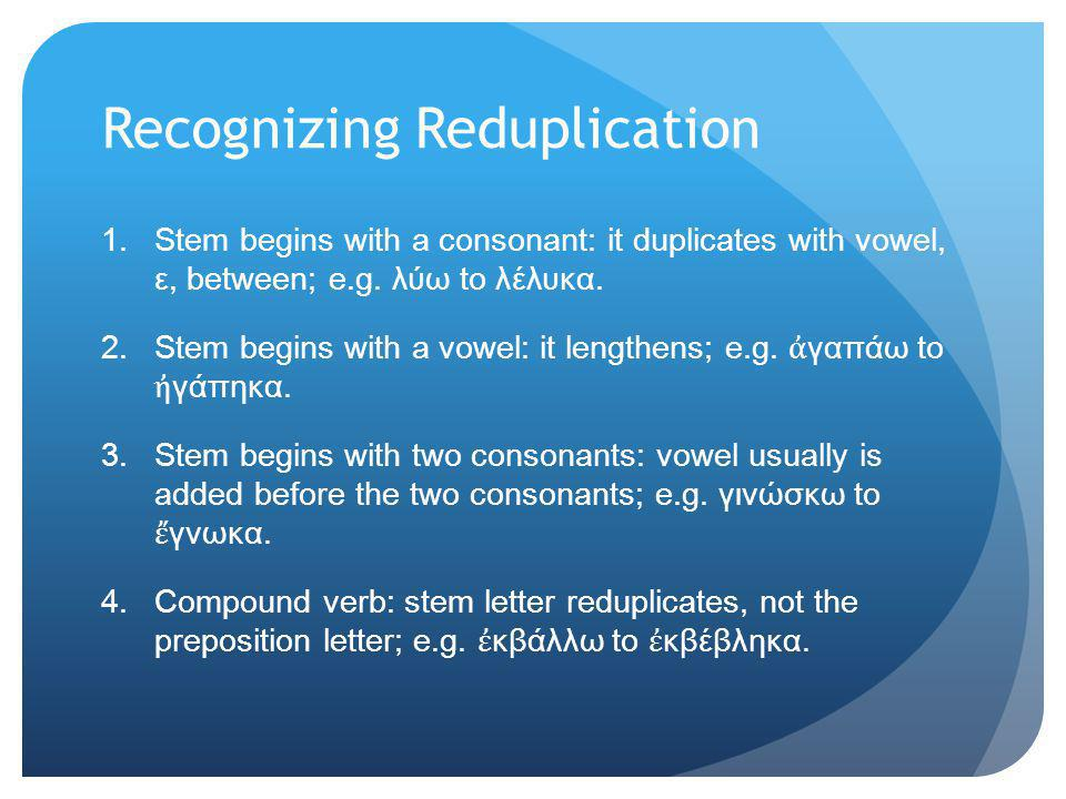 Recognizing Reduplication